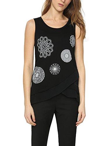 Desigual CAROLA T-shirt, Donna, Nero (NEGRO 2000), XX-Small (Taglia produttore: XS)