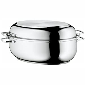 WMF Stainless Steel Deep Oval Roasting Pan, 16-1/4-Inch