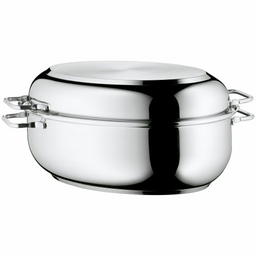WMF Stainless Steel Deep Oval Roasting Pan, 16-1/4-Inch (Kitchen)