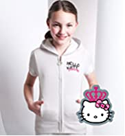 Hello Kitty London Zip Through Hooded Sweat Top