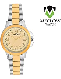 Latest Design Silver Golden Metal Strap Watch, Round Gold Dial Analog Watch For Girls, Ladies And Womens Fashionable...