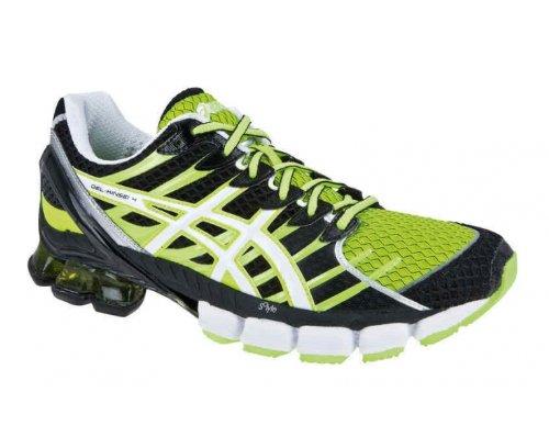 ASICS ASICS Men's Gel-Kinsei 4 Running Shoes, Black/Green, US10.5