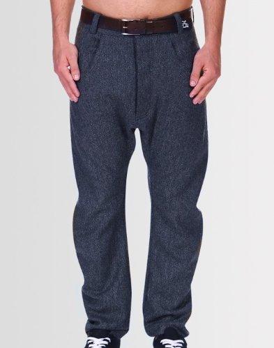 Kear and Ku Mens Tailored Bow Blue Trousers : Blue - 38W 34L