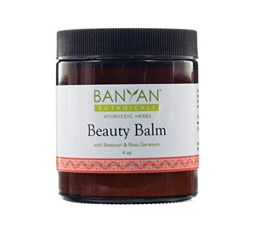 Banyan Botanicals Beauty Balm - USDA Certified Organic, 4 oz - Shatavari & Rose Geranium to Moisturize & Soften Skin