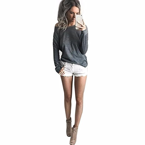 Franterd, Women Clothes - Casual Tops - Loose - Long Sleeve Shirt Blouse