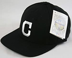 Cleveland Indians 1920 Cooperstown Black Fitted Cap Size 7 1 2 by American Needle