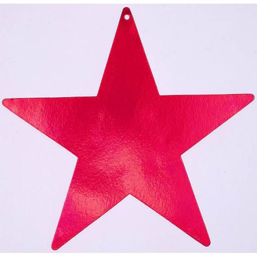 "Amscan Stylish Bulk Foil Star Party Cutouts, 15"", Red"