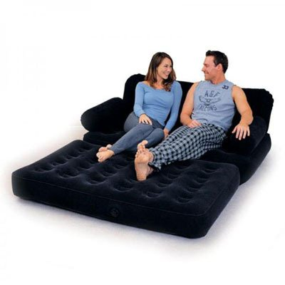 Convenient Inflatable Couch / Double Bed with Electric Pump
