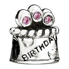 Chamilia Happy Birthday Bead with Pink CZ