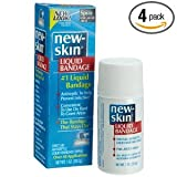 New-Skin Liquid Bandage, First Aid Antiseptic Spray (over 40 Applications), 1-Ounce Sprays (Pack of 4)