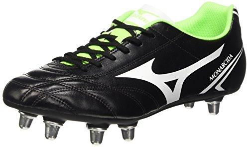 MizunoMonarcida Rugby Si - Rugby uomo, Black (Black/White/Green Gecko), 44 1/2