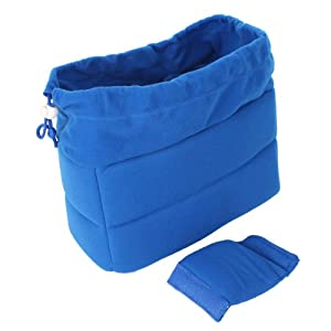 2001 DSLR Camera Bag Partition Padded Package Blue