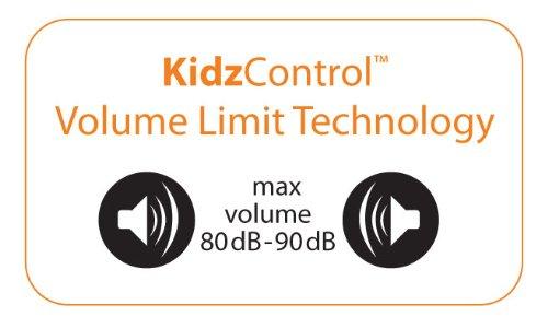 Kidz Gear Deluxe Headset Headphones with Boom Mic - Gray kidz gear deluxe headset headphones with boom mic gray