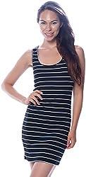 Lucky 21 Women's Basic Sleeveless Racerback Mini Dress