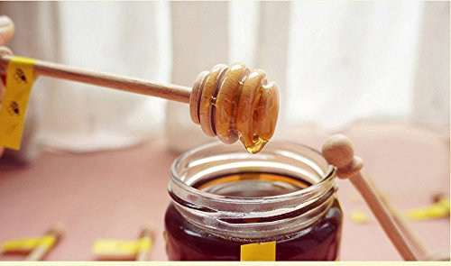 Review Of Dealglad® 50pcs Portable Mini Jam Honey Dipper Stirring Rod Wooden Muddler Honey Stick