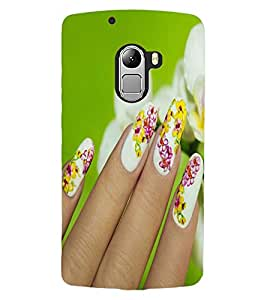 ColourCraft Lovely Nail Art Design Back Case Cover for LENOVO VIBE X3 LITE