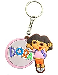 Techpro Rubber Key Chain With Single Sided Dora The Explorer Design