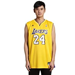 Buy NBA Los Angeles Lakers Kobe Bryant Gold Replica Jersey Gold by adidas