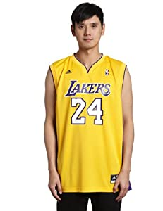 NBA Los Angeles Lakers Kobe Bryant Gold Replica Jersey Gold by adidas
