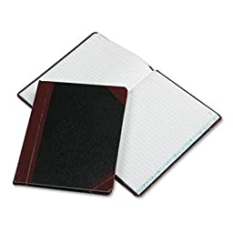 Boorum & Pease - Record/Account Book Record Rule Black/Red 150 Pages 9 5/8 X 7 5/8 \