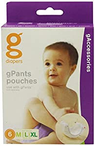 gNappies gPants breathable Pouches - Medium/Large/ XL (6)