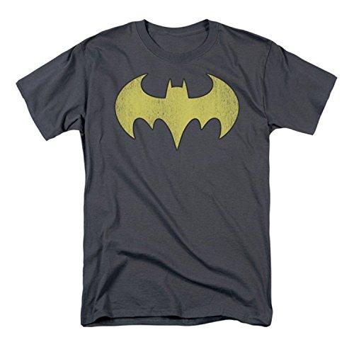 DC Comics Men's Batgirl Logo Distressed T-Shirt - Medium
