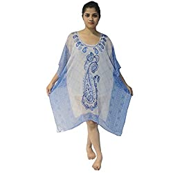 Etti Be Trendy Women's Kaftan (ES199_Blue_Free Size)