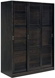 100% Solid Wood 3-Sliding Door Wardrobe/Armoire/Closet by Palace Imports, Java Color, 1 Full/5 Small…
