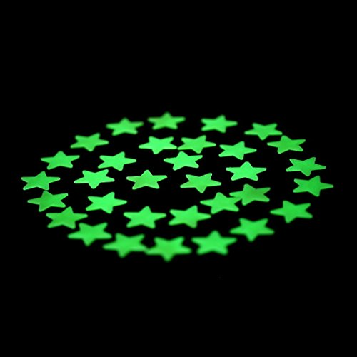 D?cor Aquarium 100PCS Home Wall Glow In The Dark Stars Stickers Decal Dreamy Noctilucent 5Y set09