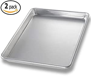 Set of 2- Aluminum Baking Sheet Pan - 9.5 x 13 Quarter Size - High Quality, Commercial... by MBW NW