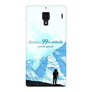 Enticing Attitude Success Back Case Cover for Redmi 1S