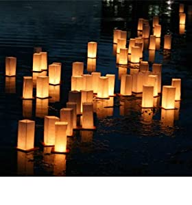 20 x Floating Lanterns - Floating Candle Lanterns from Sky Lanterns Ltd.