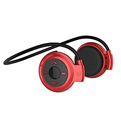 Acid Eye Universal Sports Wireless Mini 503 Bluetooth Headphone Stereo Music Headset Earphone with Built-in Microphone +TF Cart Slot - Red