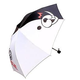 ダンガンロンパ 希望の学园と绝望の高校生可愛い白黒熊のマーク折りたたみ傘 8本骨3段折り晴雨兼用折り畳み傘