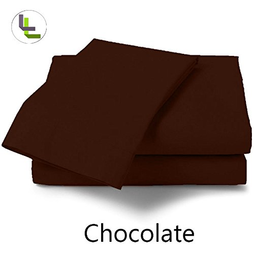 Floris Fashion High Quality Cal King 800Tc 100% Egyptian Cotton Chocolate Solid Superb Finish 1Pcs Waterbed Fitted-Sheets Solid(Pocket Size: 27 Inches) front-894221