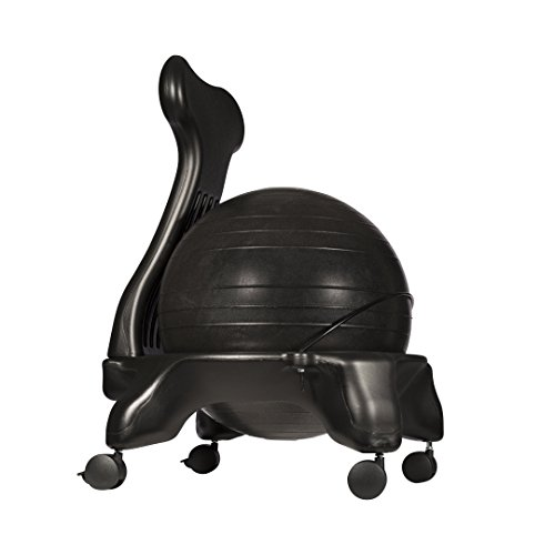 Luxfit exercise ball chair black sporting goods fitness balls - Replacing office chair with exercise ball ...