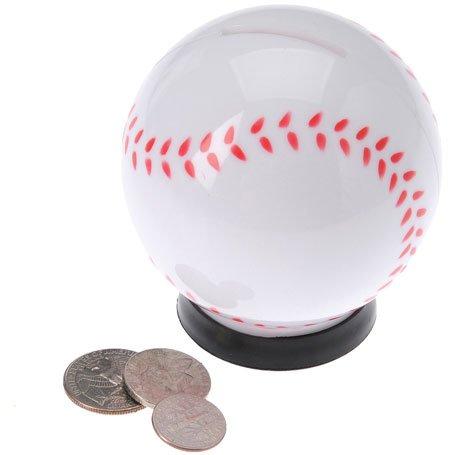 "One 3"" Plastic Baseball Savings Bank - 1"