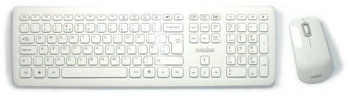 Piano White Wireless Keyboard and Mouse Set
