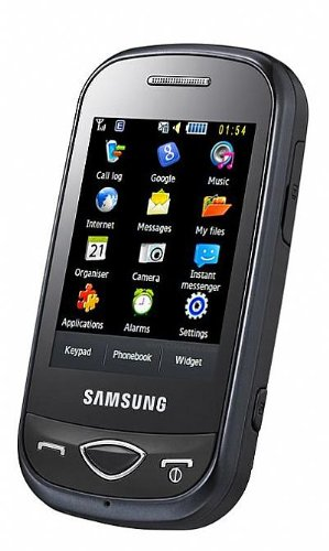 Samsung B3410EUBLK GSM Quad-Band Unlocked Cell Phone with 2MP camera, Touch Screen, QWERTY Keyboard, MP3 Player, and Bluetooth--International Version with No Warranty (Black)