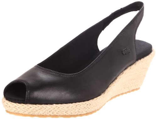 Lacoste Women's Chantemar Wedge Pump,Black,7 M US