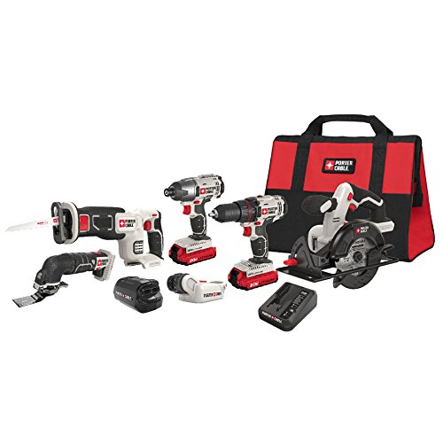 PORTER-CABLE PCCK617L6 20V Max Lithium Ion 6-Tool Combo Kit with Free USB Device (Drill Porter Cable compare prices)