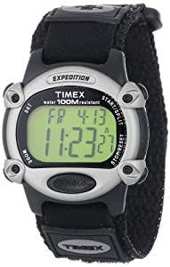 Timex Men's T48061 Expedition Digital Chrono Alarm Timer Black Fast Wrap Velcro Strap Watch