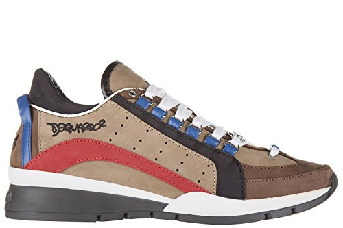 Dsquared2 Herrenschuhe Herren Leder Schuhe Sneakers 551 Braun EU 44 W16SN404097M556 thumbnail