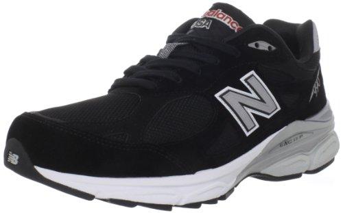 Balance - Mens 990v3 Stability Running Shoes, UK: 12.5 UK - Width 2E, Black with Grey & White