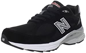 New Balance Men's 990V3 Running Shoe,Black,8 2E US