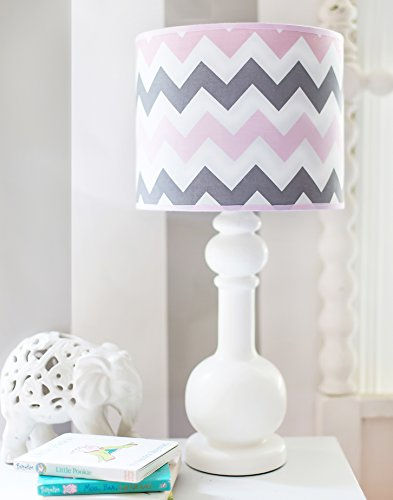 My Baby Sam Chevron Baby in Pink Lamp, Pink/Gray - 1