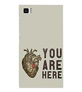 EPICCASE pumping heart Mobile Back Case Cover For Xiaomi Mi3 (Designer Case)