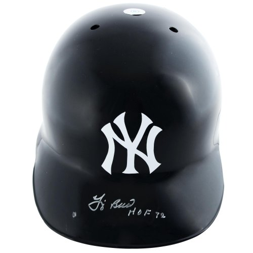 Yogi Berra New York Yankees Autographed Batting Helmet with HOF 72 Inscription - Mounted Memories Certified at Amazon.com