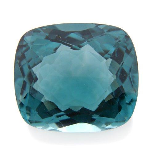 27.40cts Cushion Cut 21*19mm Green Tourmaline Amethyst Quartz Gemstone Stunning