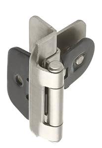 Amerock BP8700G10 Double Demountable Hinge With Inset Satin Nickel 3 8 Inch